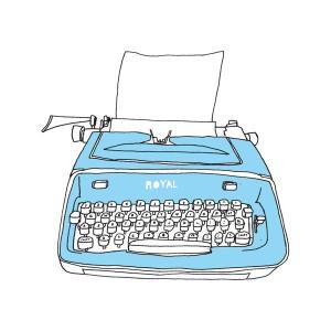 Typewriter blue