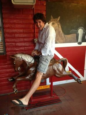 AJ on a horse