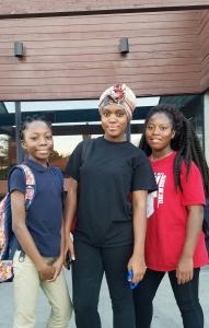 From left to right: Naomi (12), Regina (19), Joann (15)
