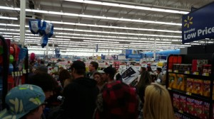 Shoppers fill the aisles at a Walmart in Price, Utah.