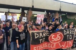 Utahns protest Ben Shapiro on the U campus on Sept. 27, 2017. (Photo by Faye Barnhurst)