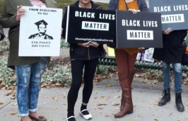 Black Lives Matter members protest Salt Lake's police body camera policy on Oct. 17, 2012. (Photo by Faye Barnhurst)