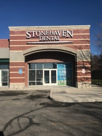 The front entrance of the Midvale location of Stonehaven Dental.