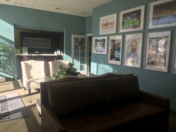An inviting lobby at Stonehaven Dental.