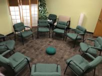 This circle of chairs welcomes everyone to practice accepting each other's story.