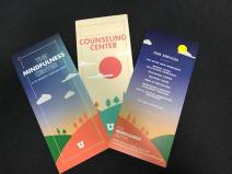 Pamphlets offering different services of the Counseling Center.