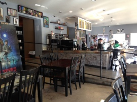 Interior of Watchtower Cafe.