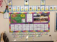 Letter center helps student to learn letters and sounds.