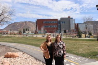 Lexie (left) and Lindsay at the University of Utah where they both currently work.