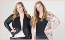 The official photo of Lindsay (left) and Lexie on the Beauty Redefined homepage.