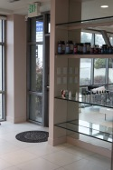 Bye Bye Med Spa displays supplements and skin care products that are offered to clients.