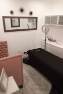 Kendall Robbs' room where she does eyebrow shaping, waxing and microblading.
