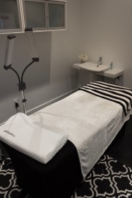 Relax as you get your eyelash extensions by Devynne Toote.