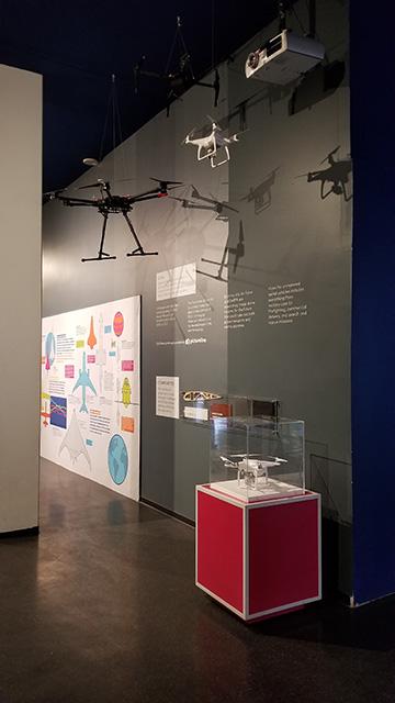 Drone exhibit