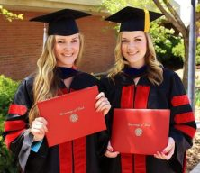 Lexie (left), and Lindsay, graduating from the University of Utah with their PhDs. Photo courtesy: Beauty Rededined