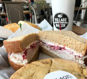 A fan favorite – turkey cranberry on wheat bread. Customers often compare it to Thanksgiving dinner.