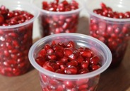 Packaged pomegranate arils by Rota Farms.