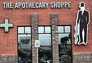 Outside the medical marijuana dispensary in Las Vegas.