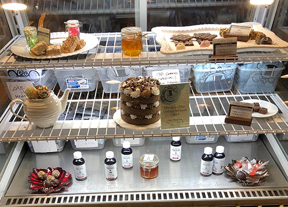 Medical marijuana pastries in a Las Vegas dispensary.