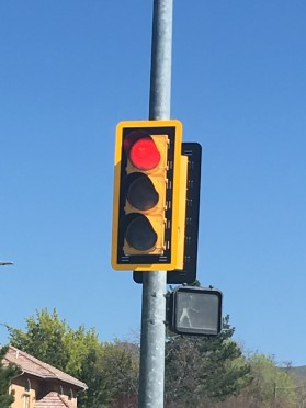 Stoplight, Salt Lake City, Ut April 2018 (Photo taken by Deaven Dell)