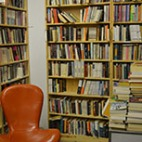 A reading corner in Ken Sanders Rare Books.