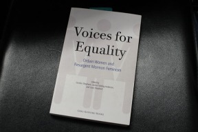Voices for Equality, a book advocating for women to be ordained that is in Prof. Toscano's collection.