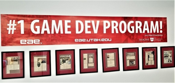 Entertainment Arts and Engineering showcasing articles about the EAE game development program at the University of Utah.