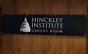 The Hinckley Institute caucus room where competitions are held for the Universities epsorts in building 73.