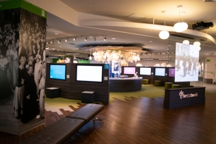 An overview of the interactive experience and the whole first floor.