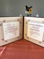 A letter and certificate of recognition to the family of a donor from Utah's Donate Life Coalition.