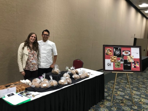 "Rivera's business ""Chef Heber."" He is selling the artisan bread."