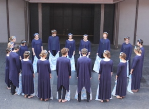 "Youth Theatre at the University of Utah performing a scene called ""Ophelia."""