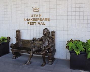 Shakespeare Festival Shakespeare Statue Cedar City small