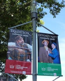 Posters for professional productions being performed during the 2018 Utah Shakespeare Festival.