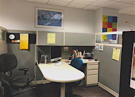 Photo by Hailey Danielson 2019   One of the Writing Center offices.