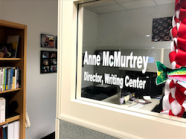 Photo by Hailey Danielson 2019   The office of Anne McMurtrey.